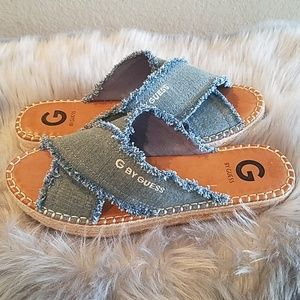 G by Guess denim espadrille sandals